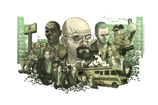 Breaking Bad Poster Background for Android, iPhone and iPad
