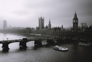 London City Black And White Background for Android, iPhone and iPad
