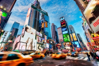 Times Square New York Background for Android, iPhone and iPad