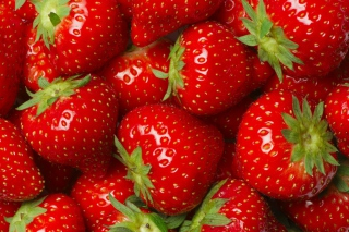 Juicy Strawberries Background for Android, iPhone and iPad