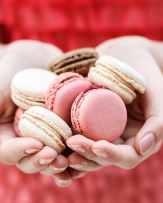 Pink Macarons Background for iPhone 6 Plus
