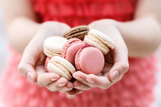 Pink Macarons Background for 1920x1408