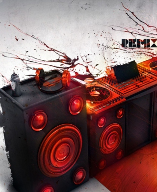 DJ Stuff Background for Nokia Asha 306