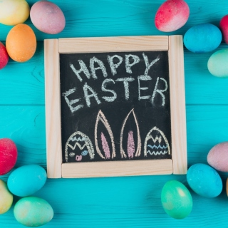 Easter Blue Background - Fondos de pantalla gratis para iPad 2