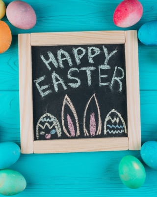 Free Easter Blue Background Picture for HTC Titan
