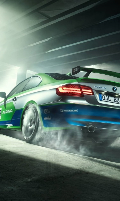 Screenshot №1 pro téma BMW Alpina GT3 Touring 480x800