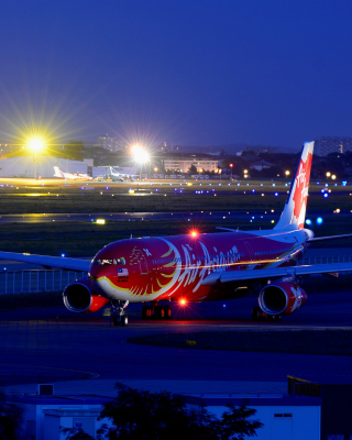 Airbus A330 Air Asia Background for 240x320