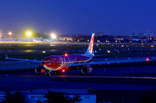 Airbus A330 Air Asia Background for Android, iPhone and iPad