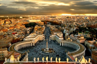 Free St. Peter's Square in Rome Picture for Android, iPhone and iPad
