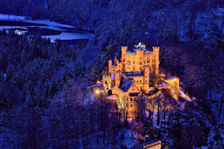 Hohenschwangau Castle Background for Android, iPhone and iPad