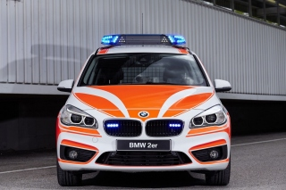 BMW 2 Police Car Background for Android, iPhone and iPad