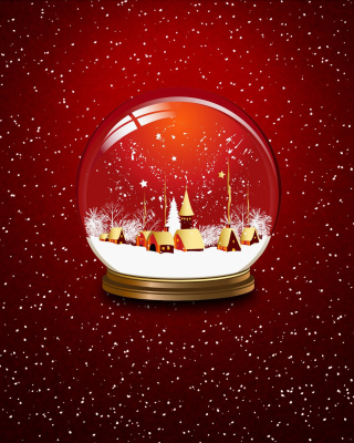 Christmas Souvenir Ball Picture for Nokia Asha 306