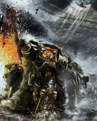 Kostenloses Battle Barg in Horus Heresy War, Warhammer 40K Wallpaper für iPhone 6 Plus