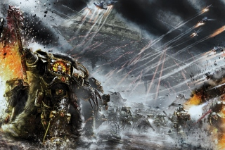 Battle Barg in Horus Heresy War, Warhammer 40K Background for Android, iPhone and iPad