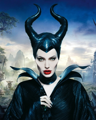 Angelina Jolie In Maleficent Background for Nokia Asha 310
