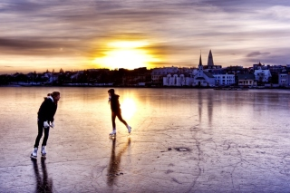 Ice Skating in Iceland Background for Android, iPhone and iPad