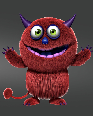 Red Evil Monster Background for 480x800