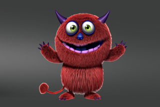 Red Evil Monster sfondi gratuiti per 1366x768