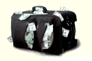 Case with Dollars Picture for Widescreen Desktop PC 1920x1080 Full HD