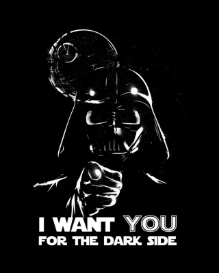 Darth Vader's Dark Side Background for 240x320