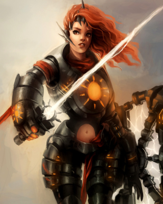 Kostenloses Warrior  Woman with Sword Wallpaper für Nokia X7
