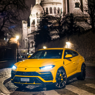 Yellow Lamborghini Urus Super SUV Picture for iPad mini