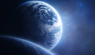 Blue Space Wallpaper for Android, iPhone and iPad