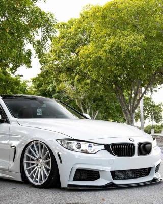 Free BMW 4 Series White Picture for iPhone 4S