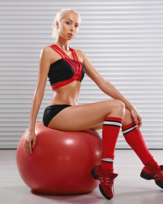 Fitness Exercise Ball Blonde Background for Nokia C2-02