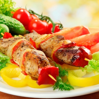 Shish kebab from pork recipe sfondi gratuiti per iPad mini