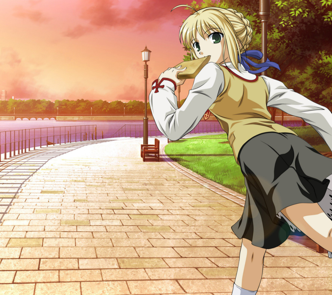 Screenshot №1 pro téma Fate stay night Saber Anime 1080x960