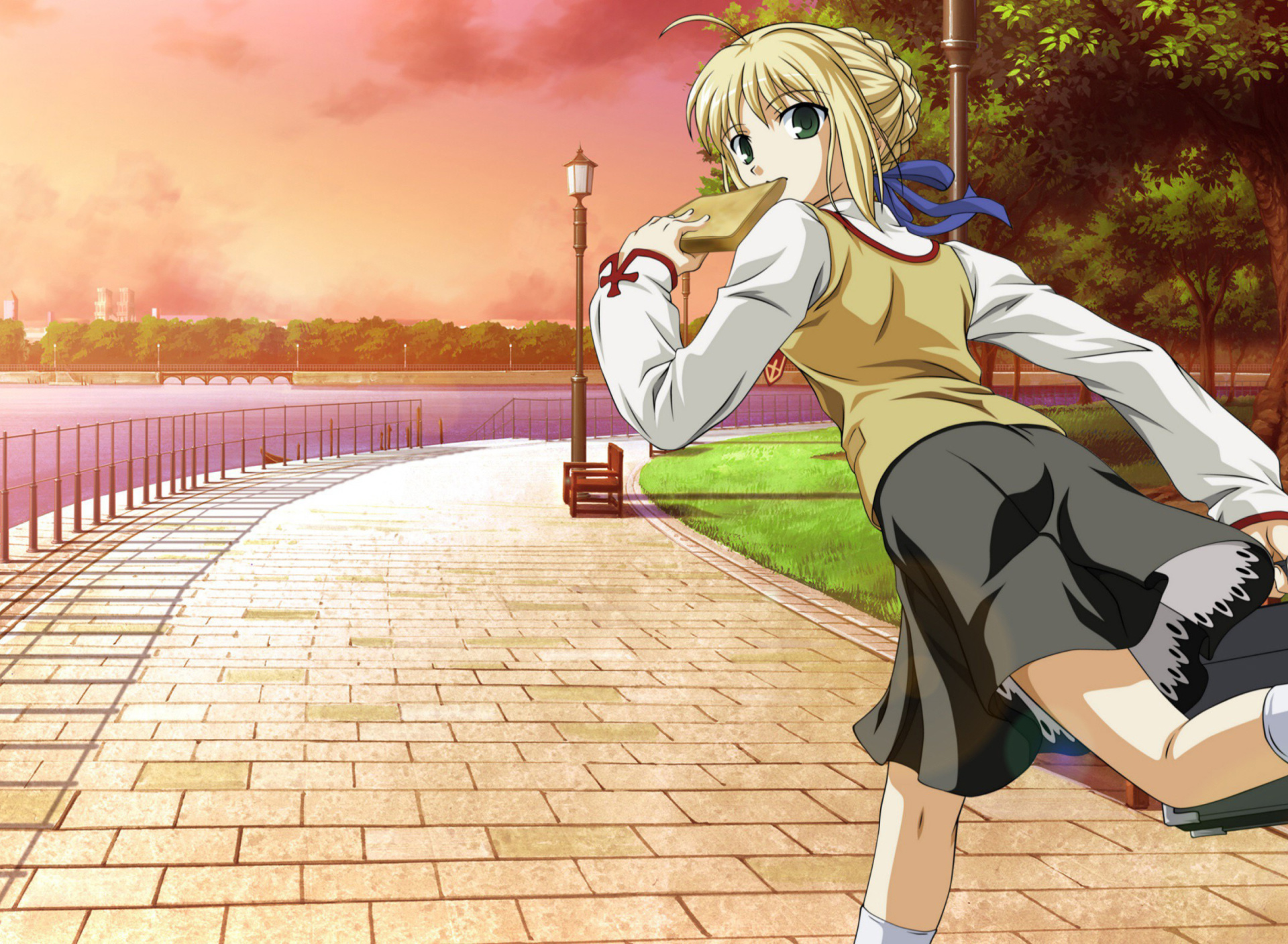 Screenshot №1 pro téma Fate stay night Saber Anime 1920x1408