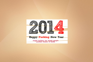 Kostenloses Happy New Year 2014 Holiday Wallpaper für Widescreen Desktop PC 1280x800