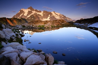 Mount Shuksan at Sunset - Washington Background for Android, iPhone and iPad