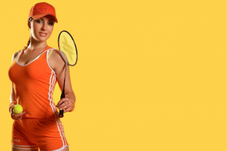 Female Tennis Player Background for Android, iPhone and iPad