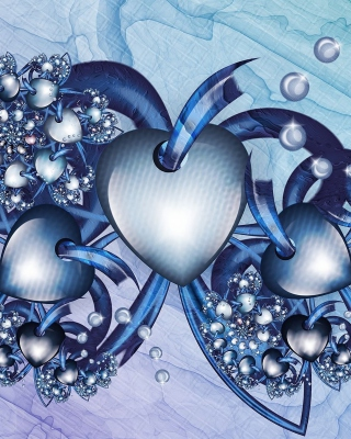 Fractal Hearts Wallpaper for Nokia X3-02