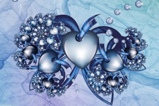 Fractal Hearts Background for Android, iPhone and iPad