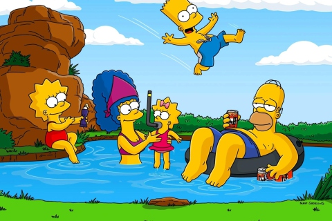 Simpsons para Samsung S5367 Galaxy Y TV