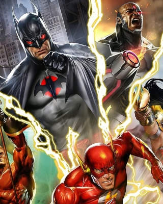 Kostenloses Justice League: The Flashpoint Paradox Wallpaper für Nokia Asha 308