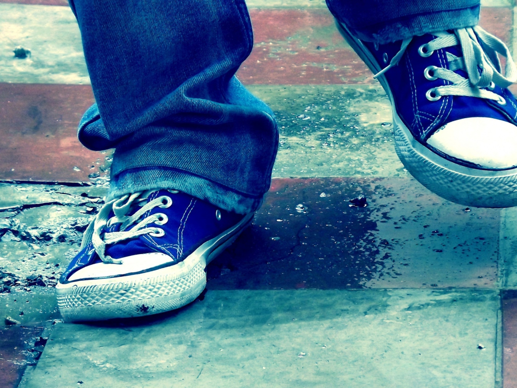 Fondo de pantalla Blue Shoes 1024x768