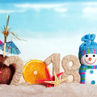 Happy New Year 2018 Beach Style - Fondos de pantalla gratis para iPad 2
