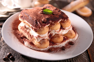 Tiramisu Tasty Cake Background for Android, iPhone and iPad