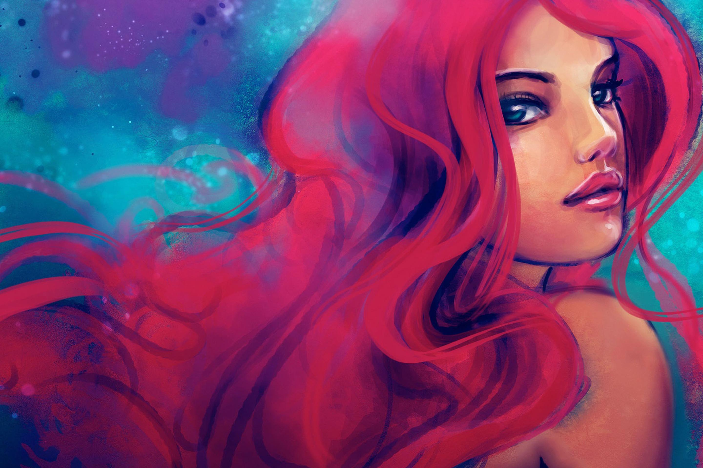Ярко красочные рисованные картинки женщин высокого качества — pic 3