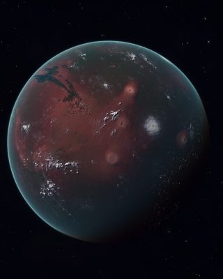 Mars Planet Background for Nokia Asha 310