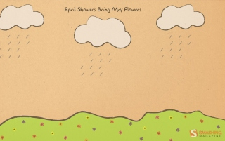 April Showers Bring More Flowers Background for Android, iPhone and iPad