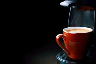 Espresso from Coffee Machine Wallpaper for Android, iPhone and iPad