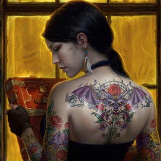 Tattooed Girl Picture for iPad 3