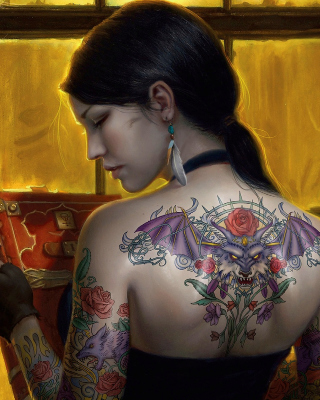 Tattooed Girl Picture for Nokia Asha 305