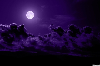 Free Purple Moon Picture for Android, iPhone and iPad