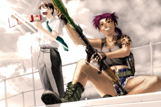 Black Lagoon Anime Background for Sony Xperia Z2 Tablet